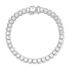 Tennisarmband für Damen aus 925er Silber mit Zirkonia