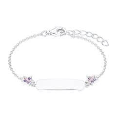 Armband Sterne für Mädchen aus 925er Silber, gravierbar