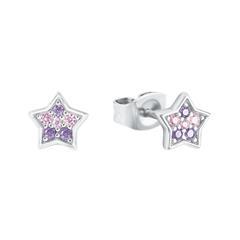 Mädchen Ohrstecker Sterne aus 925er Silber mit Zirkonia