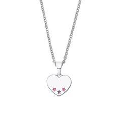 Mädchen Herzkette aus 925er Silber, gravierbar