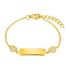 ID Armband für Mädchen aus vergoldetem 925er Silber