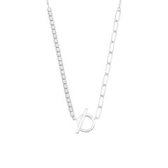 Necklace For Ladies In 925 Silver With Zirconia