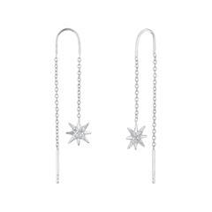 Ohrhänger Sterne für Damen aus Sterlingsilber, Zirkonia