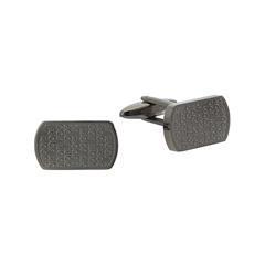 Stainless Steel Cufflinks, Gunmetal