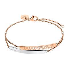 Layer Armband für Damen aus Edelstahl, rosé