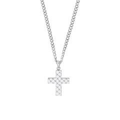 Halskette Kreuz für Herren aus Edelstahl