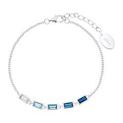 Armband für Damen aus 925er Silber mit Zirkonia, blau