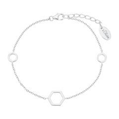 Armband Hexagon für Damen aus Sterlingsilber
