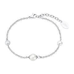 Edelstahl Armband für Damen mit Glasperle