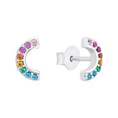 925er Silber Ohrstecker Regenbogen für Mädchen
