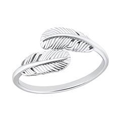 Ring mit Federmotiv aus Sterlingsilber für Damen