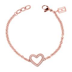 Armband Herz Edelstahl rosé
