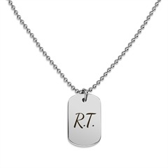 Tommy Hilfiger gravierbares DogTag silber 2700687