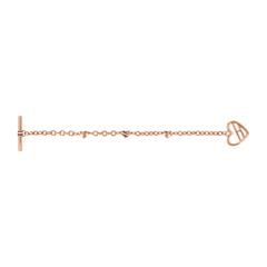 Herz Armband Fine Core aus rosévergoldetem Edelstahl