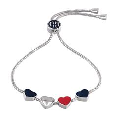Edelstahl Armband Casual Core für Damen mit Herzen