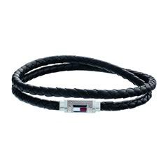 Herrenarmband Casual Core aus schwarzem Leder