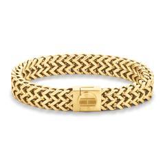 Casual Armband für Herren aus vergoldetem Edelstahl
