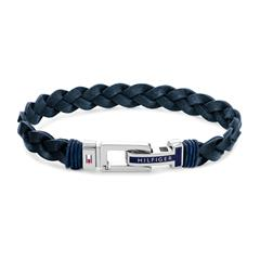 Casual Armband für Herren aus Leder, dunkelblau