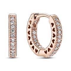 Zirkoniabesetzte Ohrringe für Damen, ROSE