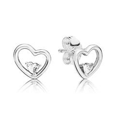 Ohrstecker Hearts of love aus 925er Silber mit Zirkonia