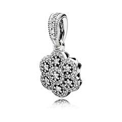 Charm 925er Silber mit Blumenmotiv