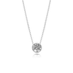 Damenkette Tree of Life aus Sterlingsilber mit Zirkonia