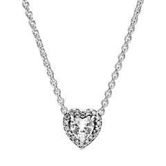 Halskette Herz aus Sterlingsilber mit Zirkonia