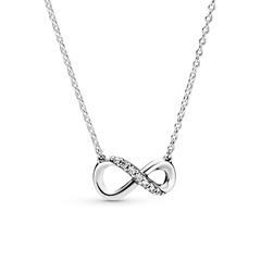 Halskette Infinity für Damen aus 925er Silber Zirkonia
