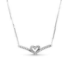 Wishbone Kette für Damen aus 925er Silber mit Zirkonia