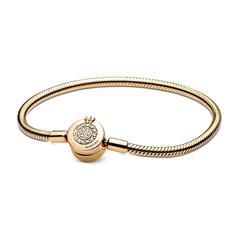 Schlangenglieder Armband Crown O für Damen, gold