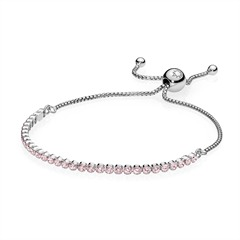 925er Silber Armband Zirkonia Rosa