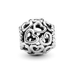 925 Silber Charm im Herzdesign