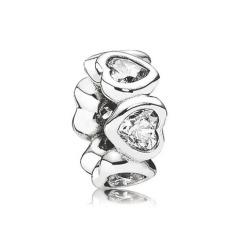 Silber Spacer Herzförmig