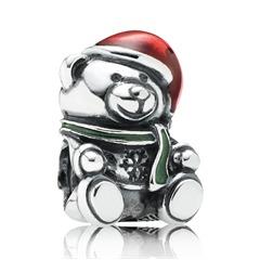 Charm Teddybär mit Nikolausmütze