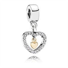 Dangle Pandora Herzen bicolor Zirkonia 791421CZ