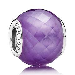 Charm violett Zirkonia 925er Silber