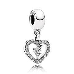 925er Silber Charm Love Tinkerbell Disney mit Zirkonia