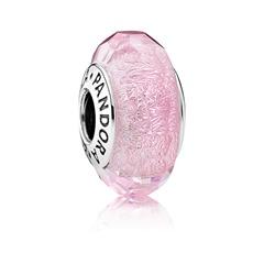 Murano-Glas Charm rosa