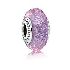 Murano-Glas Charm in lila