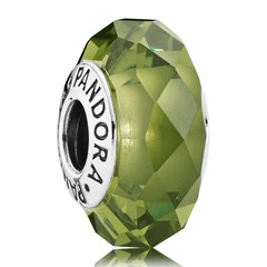 Charm olivgrün Kristall 925er Silber