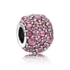 925er silber Bead Zirkonia pink