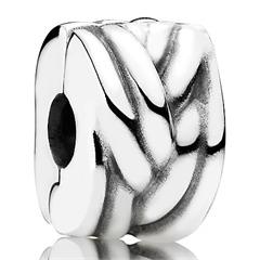 Clip Charm in Flechtoptik 925er Silber