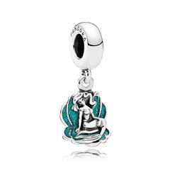 Disney Charm Ariel and the Sea Shell aus Sterlingsilber