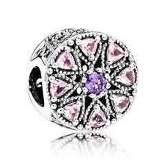 Charm violetten pinken Zirkoni