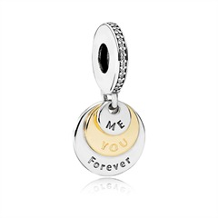 Silber Charm You & Me Forever
