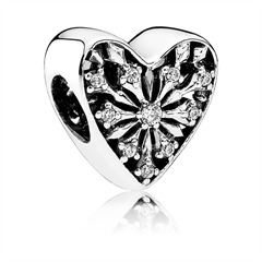 Bead 925er Silber in Herz-Form