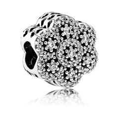 925er Silber-Bead im Blumen-Design