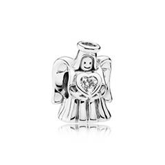 925er Silber-Bead Engel mit Herz