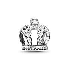 Charm Krone 925er Silber Zirkonia
