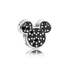 Medaillon Element Mickey aus 925er Silber Zirkonia